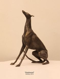 """ Dog. Greyhound "" , bronze"