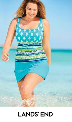 Women's Plus Size Underwire Squareneck Tankini Top Stylish Outfits, Cool Outfits, Fashion Outfits, Womens Fashion, Girls Bathing Suits, Cool Style, My Style, Cute Skirts, One Piece Swimwear