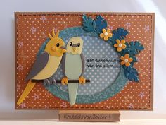 Marianne Design Cards, Baby Album, Bird Cards, Animal Cards, Pretty Cards, Punch Art, Anniversary Cards, Homemade Cards, Paper Cutting