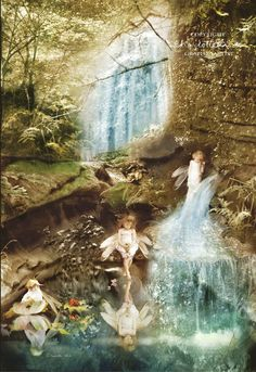 Morning Cottingley Woods - Fairy Print Mounted or unmounted or two sizes of plaques to choose from-All signed By Charlotte Bird Fairy Dust, Fairy Land, Fairy Tales, Fantasy World, Fantasy Art, Fairy Pictures, Beautiful Fairies, Mythical Creatures, Faeries