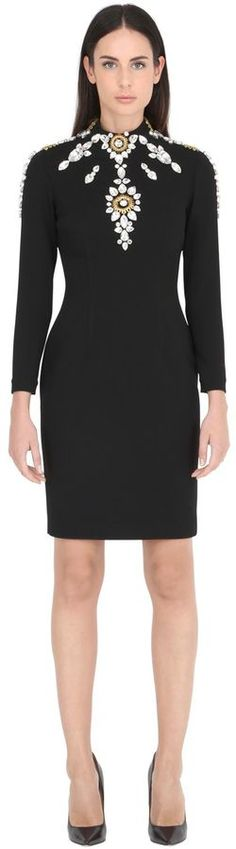 Embellished Crepe Dress | #Chic Only #Glamour Always