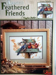 Feathered Friends By Marjolein Bastin Cross Stitch by NeedANeedle, $9.75