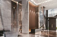 5 Star Hotel Finishing at The Sterling Lobby Interior, Luxury Interior, Interior Architecture, Hotel Lobby Design, Reception Desk Design, Public Bathrooms, Hotel Interiors, Ceiling Design, Retail Design