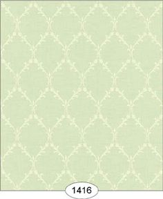 Wallpaper - Emma - Lattice - Green