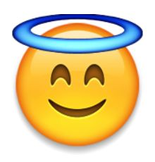 """Emoji, or """"picture letters"""", originated in Japan. Find out everything you ever wanted to know about the little icons here ~ Smiling Face with Halo Emoji Get Emoji, Smiley Emoji, Funny Emoji, Funny Emoticons, Emojis Png, Emoji Caca, Emoji Codes, Emoji Keyboard, Emoji Pictures"""