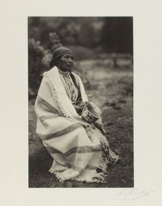 c 1902-1904 Sally Waukuaquas, Klickitat. Taken near Portland, Oregon by photographer Lily E. White (American, 1865-1944). Native American, Indian Oregon and Washington
