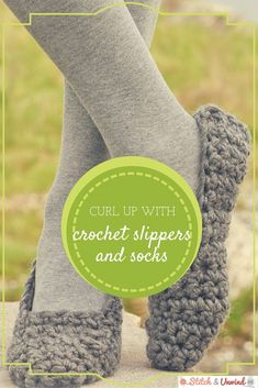 Curl Up with Crochet Slippers and Socks this season - free patterns for you! Crochet Booties Pattern, Crochet Slippers, Knit Or Crochet, Crochet Gifts, Crochet Patterns, Crochet Ideas, Crochet Mandala, Crotchet, Crochet Classes