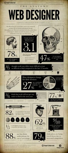The anatomy of a web designer Infographic  #webdesign #graphics #graphicdesign