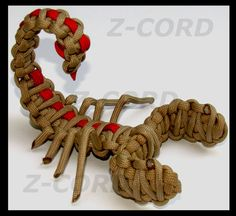 Paracord Scorpion #550paracord #550cord #paracord #parachutecord #cord #cordage #toy #scorpion #creature #insect #animal #kids #knots #DIY #crafting #weave #knot #woven #craft #crafting #rope #twine #survival #project