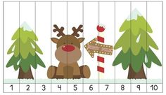 Christmas Math Centers - 10 super cute math learning activities for your kiddos this Christmas! Christmas Puzzle, Christmas Math, Preschool Christmas, Noel Christmas, Christmas Activities, Christmas Printables, Christmas Themes, Holiday Crafts, Number Puzzles