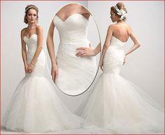 Mermaid Wedding Dresses : Free Shipping Graceful Tulle sweetheart Neckline Mermaid 2014 Bridal Dress