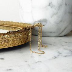 Kaia - dainty gold filled figure 8 chain choker