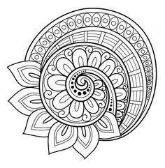 Flower mandala coloring page - free! More