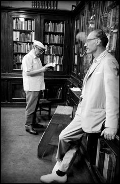 Pablo Neruda and Arthur Miller, NYC, 1966.