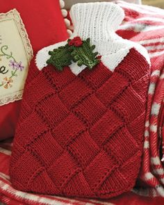 Entrelac Hot Water Bottle Cover from Debbie Bliss Magazine #11 by at KnittingFever.com