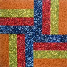 The pattern Matthew chose for his split rail quilt.