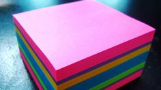 For some of the exercises, all you need is a pack of post-its. Photo by Angela on Flickr under Creative Commons licence.