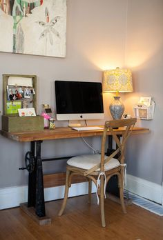 revamped sewing machine table (grandma/mom's sewing machine), converted desk/console table