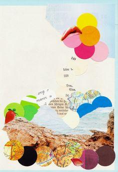 Collage mit Kreisen