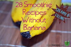 28 Smoothies Without Bananas (Filling and Creamy Recipes) banana allergy Smoothie Vert, Juice Smoothie, Smoothie Drinks, Smoothie Recipes, Yummy Smoothies, Yummy Drinks, Healthy Drinks, Banana Smoothies, Recipes