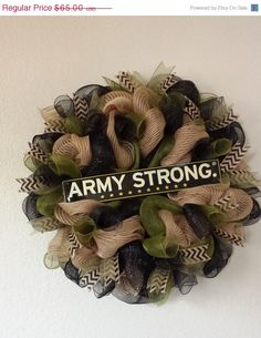Show your love and support for our service men and women with a wonderful milita. Show your love and support for our service men and women with a wonderful military wreath. I can custom make your favorite branch of service Source by. Army Wreath, Military Wreath, Army Crafts, Military Crafts, How To Make Wreaths, Crafts To Make, Arts And Crafts, Army Decor, Military Decorations