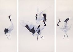 Renso Tamse/Wildlife Artwork Dance of the Japanese Cranes