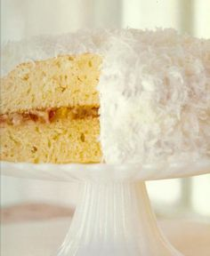 Coconut Layer Cake with Ambrosia Filling