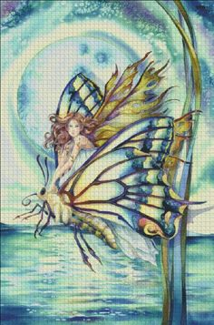 Butterfly Fairy [BERGSMA42699] - $19.00 : Heaven And Earth Designs, cross stitch, cross stitch patterns, counted cross stitch, christmas stockings, counted cross stitch chart, counted cross stitch designs, cross stitching, patterns, cross stitch art, cross stitch books, how to cross stitch, cross stitch needlework, cross stitch websites, cross stitch crafts
