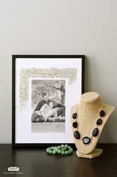 Wedding Anniversary Photo Art Ideas / Beautiful and simple art ideas for celebrating your wedding day, graduation day and other special occasions. #ad #sponsored