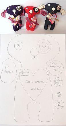PANTLYK: Cобачки с сердечками, выкройка и инструкция