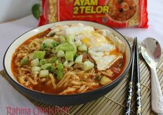 See related links to what you are looking for. Prawn Noodle Recipes, Veggie Recipes, Asian Recipes, Cooking Recipes, Ethnic Recipes, Mie Noodles, Ramen, Mie Goreng, Good Food