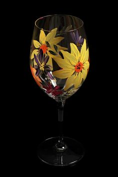 Hand Painted Wine Glasses IIl by BFLCreativeDesigns on Etsy, $18.00