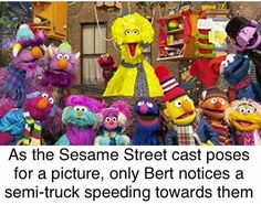 'Sesame Street' turns How Big Bird, Elmo and friends broke new ground for children's TV Messed Up Memes, Stupid Memes, Dark Humour Memes, Dankest Memes, You Funny, Funny Cute, Funny Relatable Memes, Funny Jokes, Hilarious