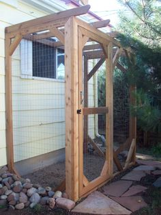 Outdoor Cat Enclosure - it's gotta look nice and not too WT.