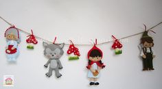 Little Red Riding Hood garland by MySweetfelt on Etsy