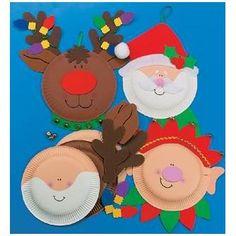 Kerstfiguren papieren bordjes