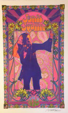 vintage Janis Joplin poster