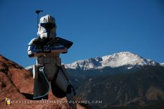 The Captain in front of Pikes Peak