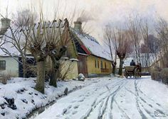 A Winter Day, Peder Mørk Mønsted (1859-1941) . http://www.wikigallery.org/wiki/painting_377652/Peder-Monsted/A-Winter-Day%2C-Hoje-Taastrup