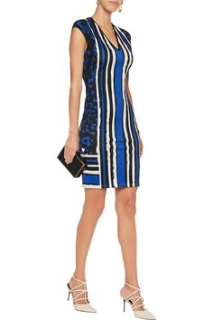 Shop on-sale Roberto Cavalli Printed stretch-jersey dress. Browse other discount designer Dresses & more on The Most Fashionable Fashion Outlet, THE OUTNET.COM