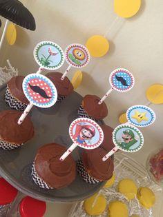 Mario Cupcake Toppers - Super Mario - Mario Bros - Party Supplies - INSTANT DOWNLOAD