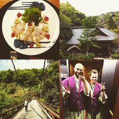 An incredible couple of days in the Hakone Mountains. We've been spilt rotten! Now off to Osaka! #honeymoon #sjltpa2016 #ryokan #temple #japan #hakone #spa #shrine #nature #kaiseki #gay #guysinrobes #sayonara by thomaspryseabel