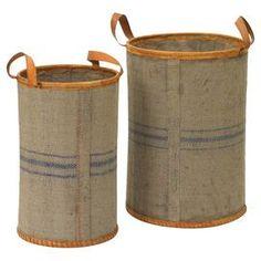 2-Piece Jute Basket Decor (Set of 2)