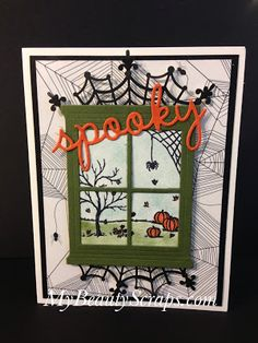 BeautyScraps: One Card, Two ways! Using Stampin' Up! Happy Haunting DSP and…