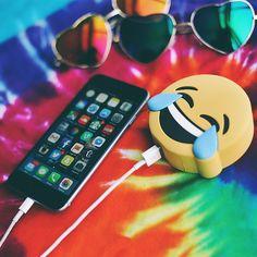 pinterest || ☽ @kellylovesosa ☾   LOL Emoji Portable Charger