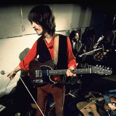 What a scene. Beatles probably recording Hey Jude. George Harrison on his trusty rosewood telecaster.