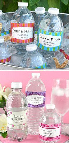 Personalized Waterproof Water Bottle Labels