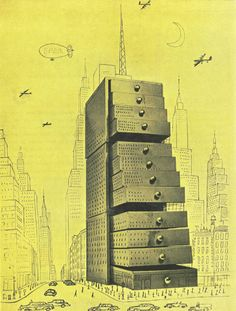 The City  Saul Steinberg  [published on Flair, September 1950]  source