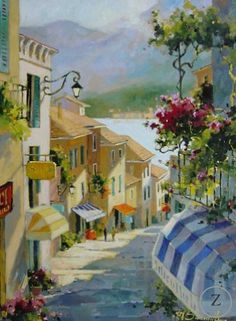 marilyn simandle artist | Bellagio Remembered by Marilyn Simandle - Zantman Art Galleries