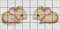 Stickvorlage für das Katzenspielzeug mit dem Maus-Motiv